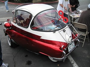 A BMW Isetta 300 at the 27th Annual Unique Little Car Show in West Covina, CA